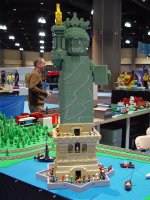 Erik V's Statue of Liberty watches over the Hartford KidsFest layout.
